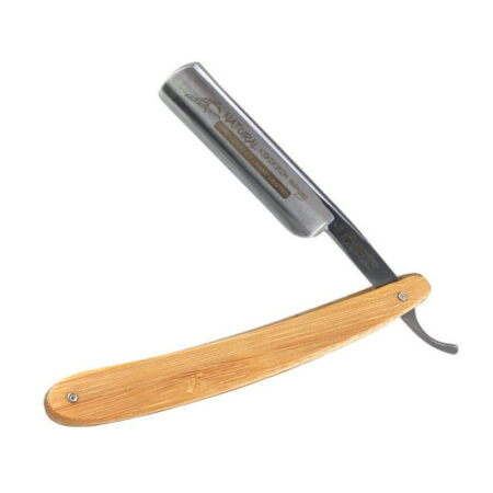 Dovo Straight Carbon Steel Razor with Bamboo Scales